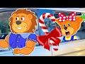 Lion Family drive thru Christmas trip | Cartoon for Kids