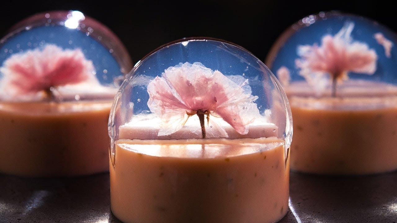 桜とルビーチョコの水ようかんの作り方