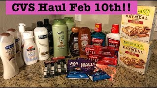 CVS Extreme Couponing Haul| Feb 10, 2019|Tons of Moneymakers and Cheap Deals!!!