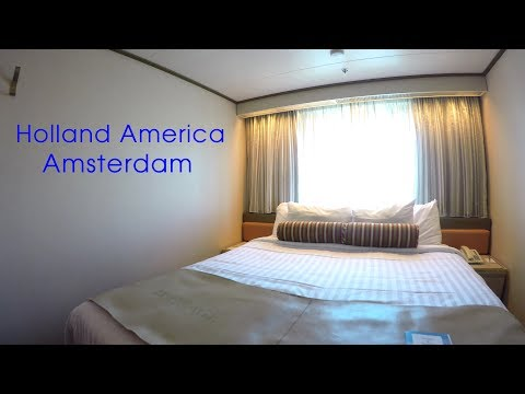 Holland America Amsterdam Oceanview Stateroom & Inside Cabin Tour (HD)