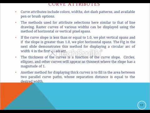 Computer Graphics: Attributes to Graphics Primitives