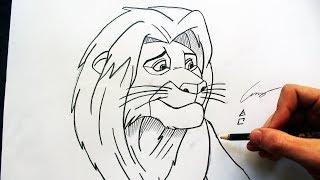 Como Desenhar o Simba Adulto [Rei Leão/Lion King] - (How to Draw Simba) - SLAY DESENHOS #239