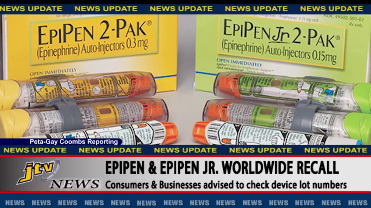 jtv news update epipen and epipen jr worldwide recall [ 1280 x 720 Pixel ]