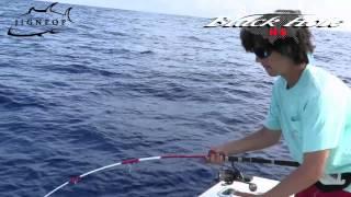Part 2: Yellowfin Tuna Fishing vs. Black Hole Magic Eye 753S Rod in Bermuda 2014