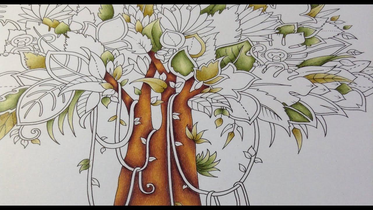 Magical Jungle - Tree Color Tutorial Part 1