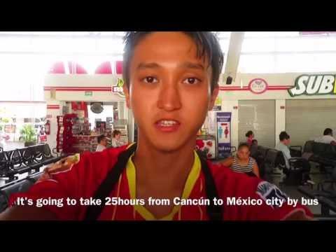 Dancer × Backpacker Shimon owaki , World travel 17 in Cancún Mexico city / México  (HD)