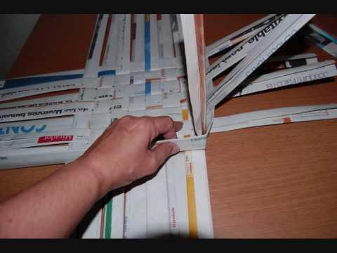 Como se hace una canasta de periodico imagui - Cestas de papel de periodico ...