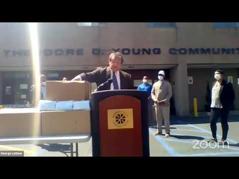 Westchester County Executive George Latimer Gives COVID-19 update from the Theodore D. Young Community Center in Greenburgh on Thursday, May 7.