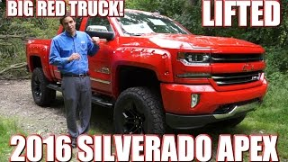 Video BIG RED TRUCK! Check out this LIFTED Custom 2016 Silverado by SCA Performance! Must See!! download MP3, 3GP, MP4, WEBM, AVI, FLV Juli 2018
