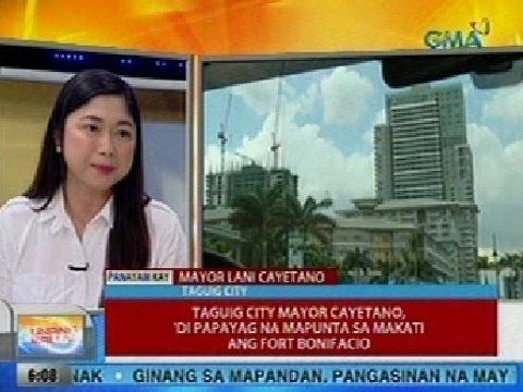 UB: Taguig City Mayor Cayetano, 'di papayag na mapunta sa Makati ang Fort Bonifacio
