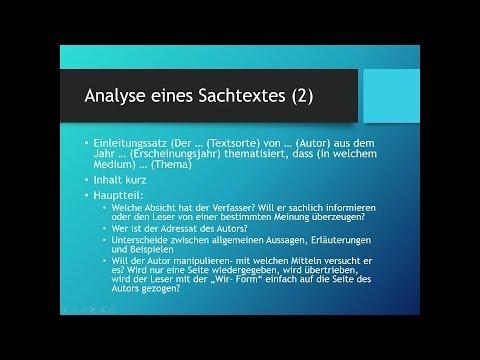 Analysevorgehen // Sachtexte analysieren // Deutsch // Schülerhilfe Lernvideoиз YouTube · Длительность: 1 мин41 с