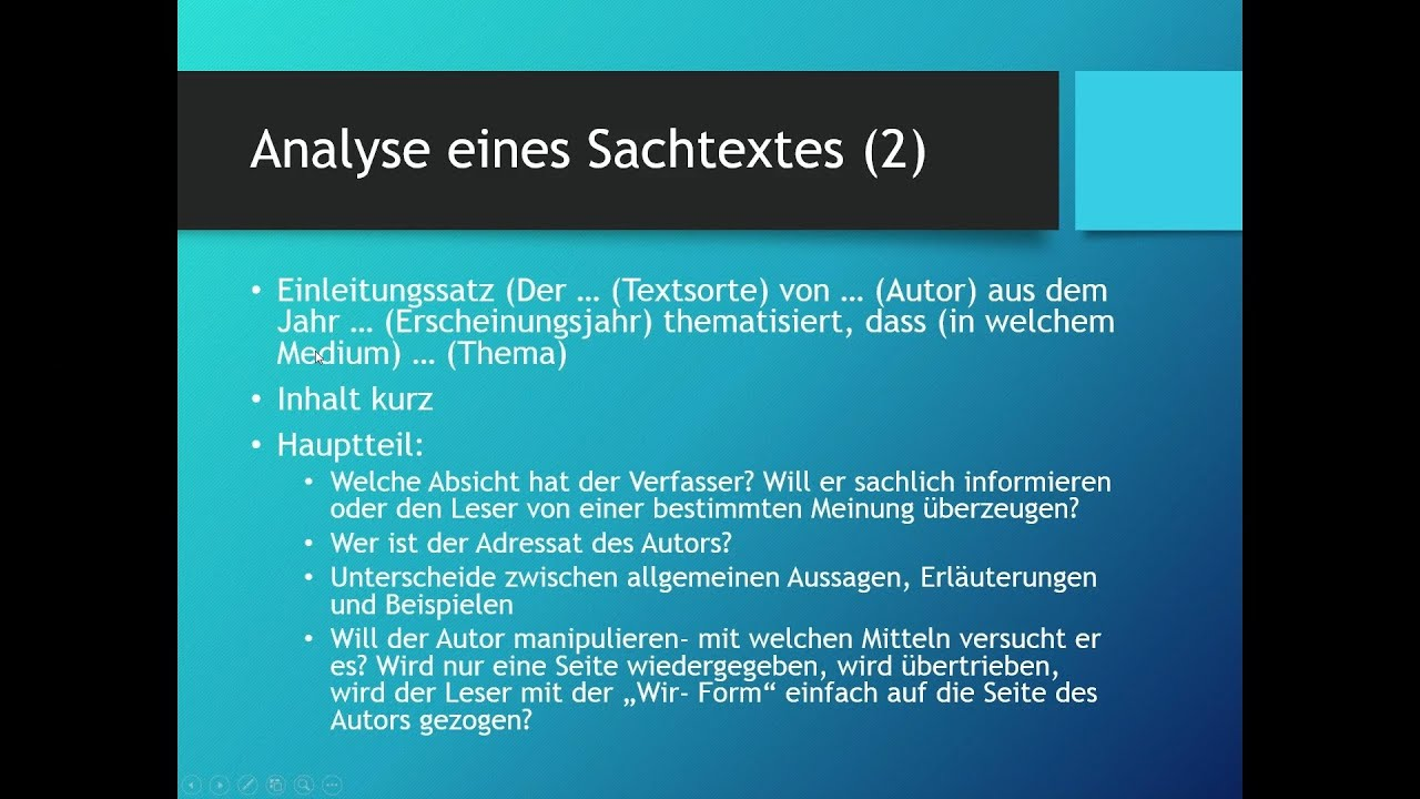 sachtexte analysieren deutsch youtube