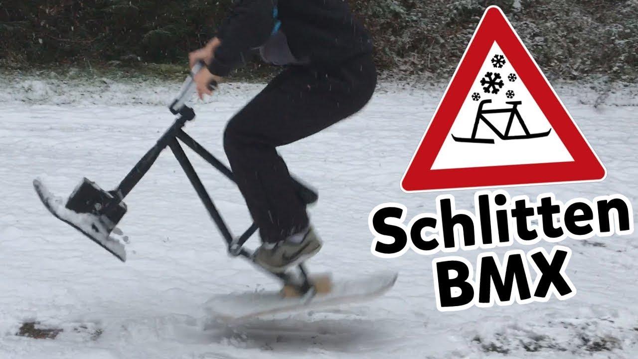 Skifahren auf dem Fahrrad! [DIY] Snow BMX für unter 40€ - YouTube