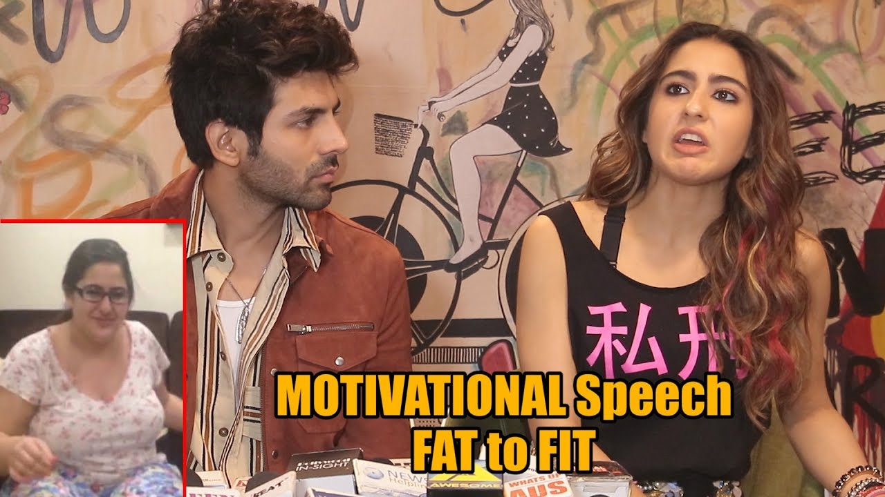 Download Sara Ali Khan Reaction on his Old FAT Video | MOTIVATIONAL Speech | FAT to FIT