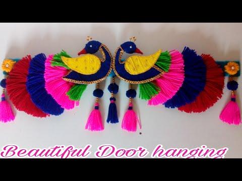 DIY easy woolen peacock door hanging/ Toran making/ Door hanging wool/Amazing wool door hanging