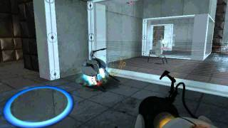 Portal: How to kill a turret using another turret