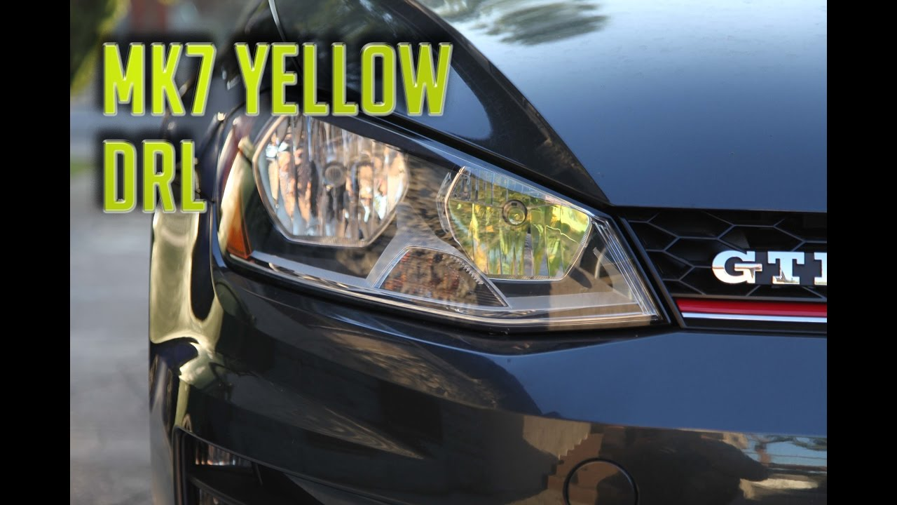 Mk7 Yellow Drl Install 2016 Gti Youtube