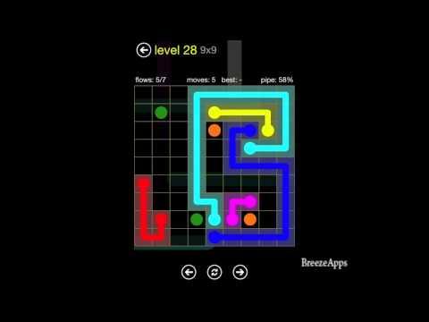 Flow Free 9x9 level 28 (Regular Pack Hard)