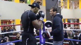 EXPLOSIVE POWER !!! - ANTHONY JOSHUA FULL PAD WORKOUT WITH TONY SIMS / BAD INTENTIONS