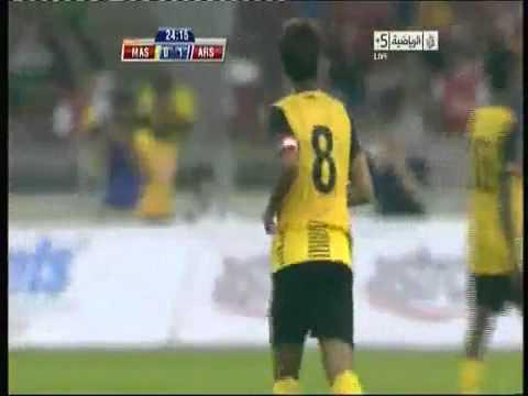 Free kick syafiq rahim - Malaysia vs Arsenal Asia Tour 2011