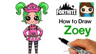 How to Draw Zoey | Fortnite