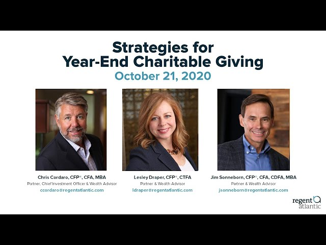 Strategies for Year End Charitable Giving
