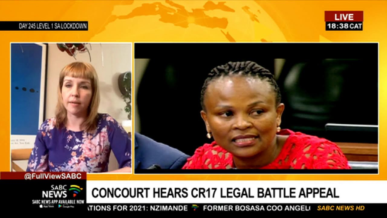 Download ConCourt's hearing on CR17 legal battle: Karyn Maughan