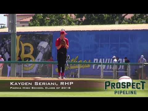 Kayden Seriani Prospect Video, RHP, Paonia High School Class of 2018, Side Angle