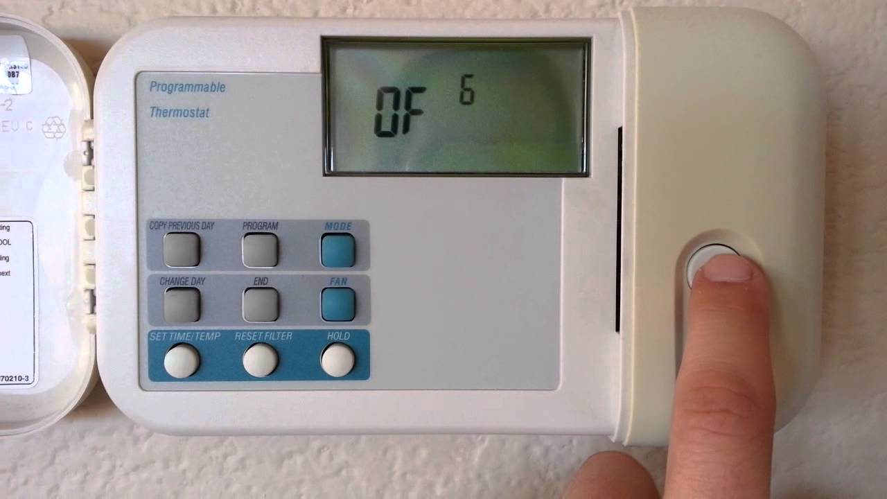 Cool share time delay carrier thermostat
