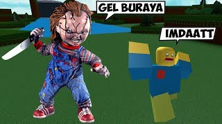 WE'RE DOING CHUCKY HISTORY NOOBS SCARED / Roblox English