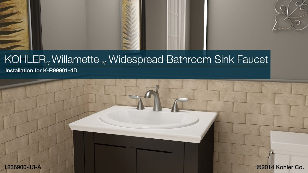 Installation - Willamette Widespread Bathroom Sink Faucet - YouTube
