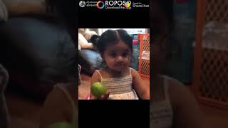 Small girl fails to pronounce the word nimma