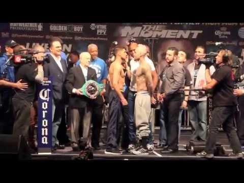 AMIR KHAN v LUIS COLLAZO - OFFICIAL WEGH-IN @ MGM GRAND / THE MOMENT