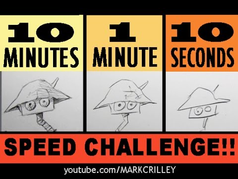 Speed CHALLENGE: 10 Minutes/1 Minute/10 Seconds! [the original video]
