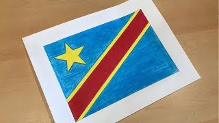 Congolese Flag Drawing 🇨🇩 (D.R.C.)