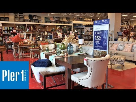 PIER 1 IMPORTS FALL DECOR FURNITURE ARMCHAIRS HOME DECOR SHOP WITH ME SHOPPING STORE WALK THROUGH 4K
