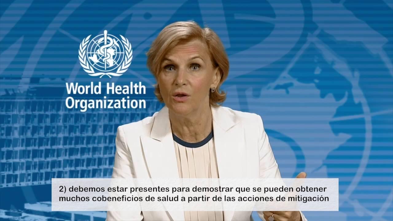 Una Salud frente al Cambio Climático, mensaje de Maria Neira ...