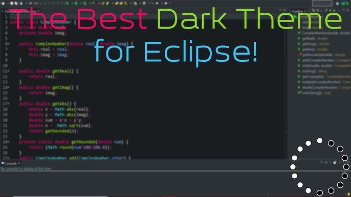Eclipse Ide Black Theme