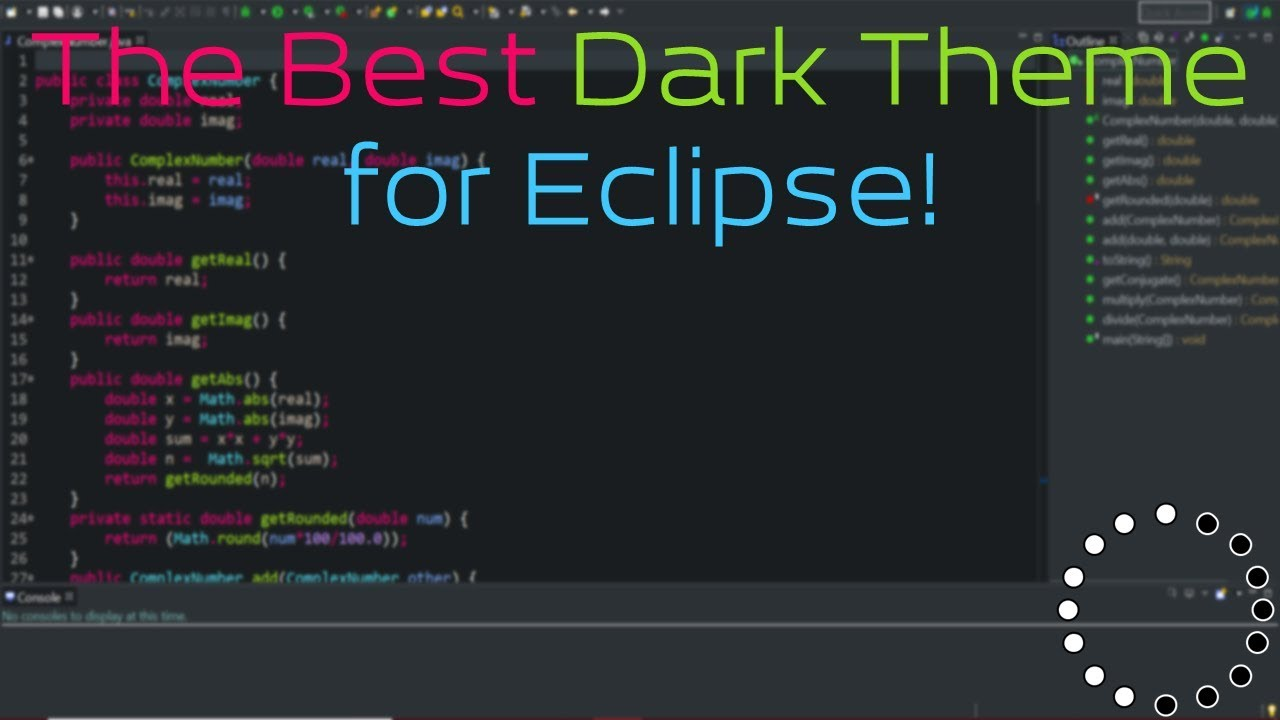 The Best Dark Theme for Eclipse!