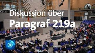 Bundestag diskutiert über Abtreibungsparagrafen