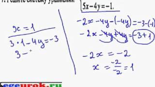 Решение системы уравнений методом сложения