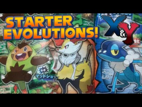 Pokémon X and Y - Kalos Starter Evolutions Revealed