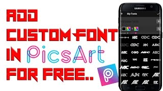 How to Add Custom Stylish Font in Picsart for free | very important for photo editor | Must Watch