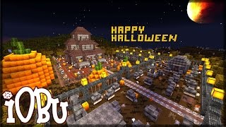 HAUNTED HOUSE + CEMETARY! - Minecraft Halloween Timelapse - Let