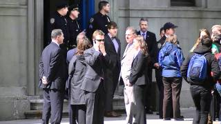 NYPD 1st Precinct is visited by President Obama