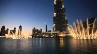Dubai Fountain - The Prayer (Celine Dion and Andrea Bocelli)