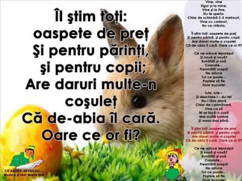 CE ADUCE IEPURAȘUL… – Cantece pentru copii in limba romana