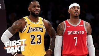 Carmelo Anthony's ideal landing spot is with LeBron James and Lakers - Stephen A. | First Take