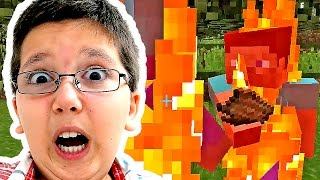 Minecraft With Jacob - SQUIRE ON FIRE!