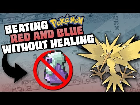 HOW EASILY CAN YOU BEAT POKEMON RED/BLUE WITHOUT EVER HEALING?